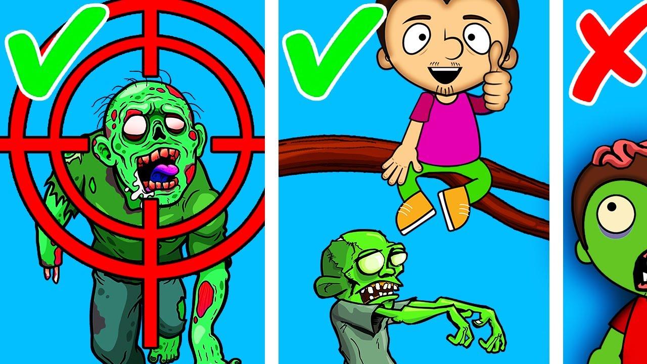 Топ лайфхаков для зомби апокалипсиса. Как выжить во время нашествия зомби. Часть 3