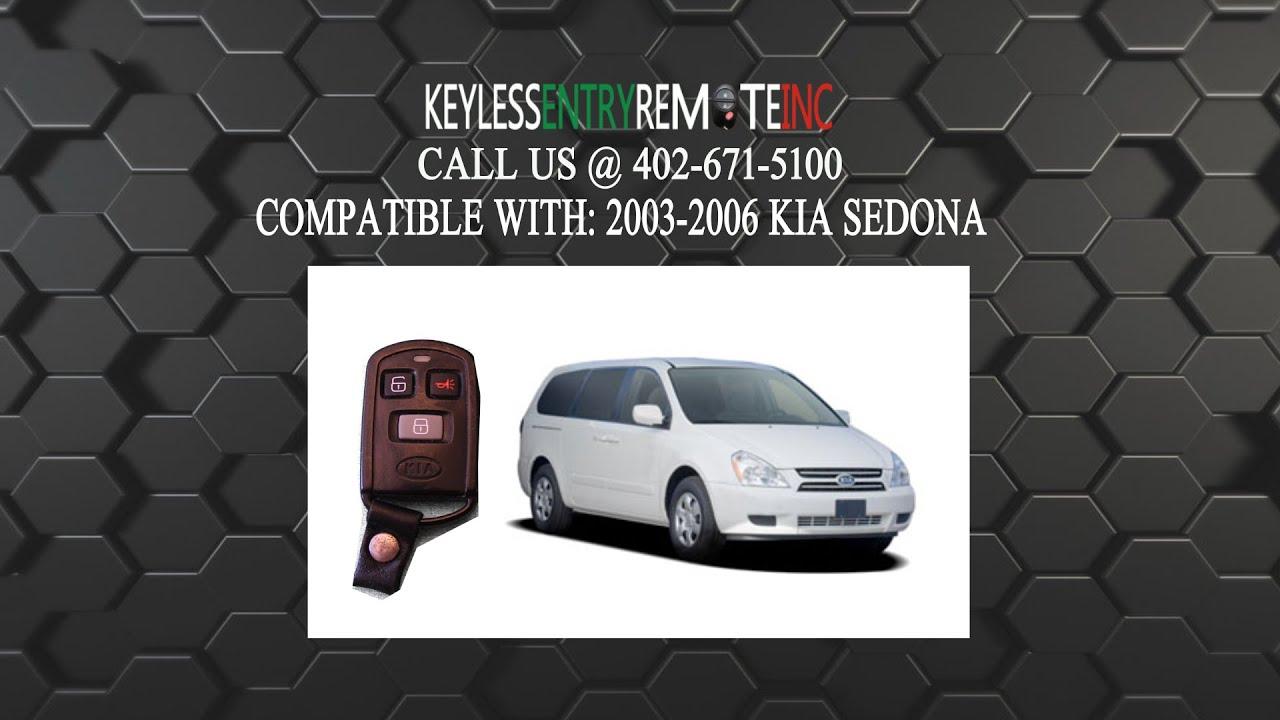 How To Replace Kia Sedona Key Fob Battery 2003 2004 2005 2006