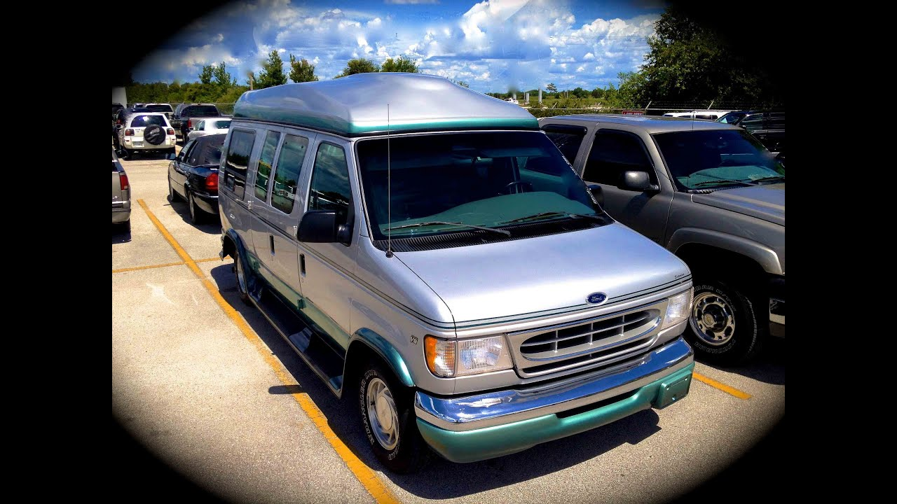 1999 Ford E 150 Conversion Van 54L Start Up Quick Tour Rev With Exhaust View