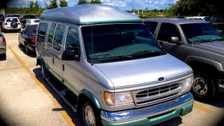 1999 ford e 150 conversion van 5 4l start up quick tour rev with exhaust view 115k