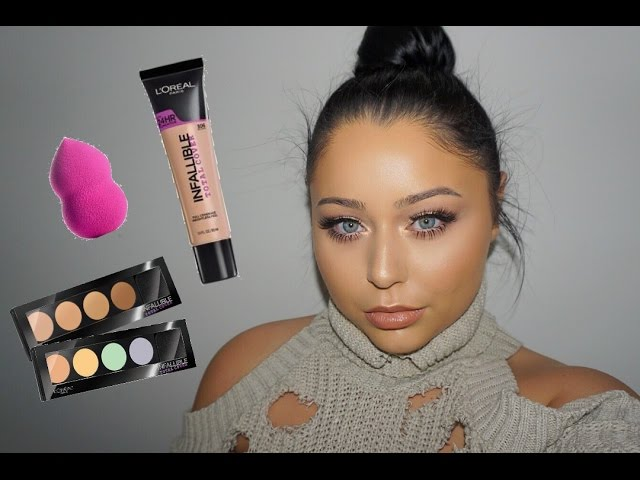 new-l-oreal-total-cover-foundation-kit-sponge-first-impression-video