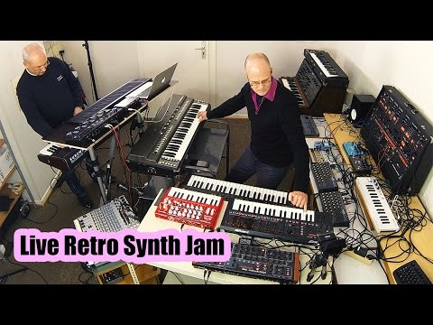 Live Retro Synth Jam (Back to the future of 1973 Berlin School of Electronic Music)