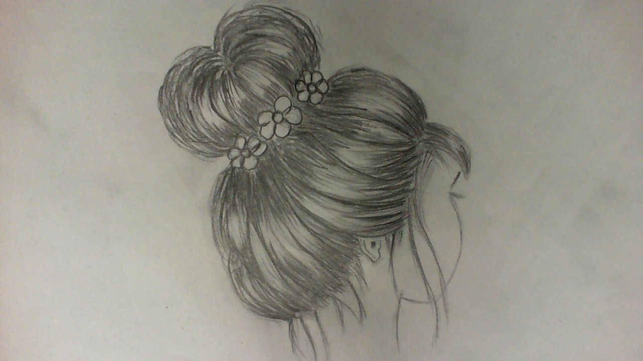 draw hair bun