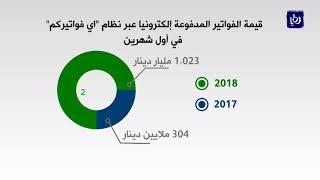 مليار دينار حجم مدفوعات الأردنيين لفواتيرهم إلكترونيا في شهرين - (12-3-2018)