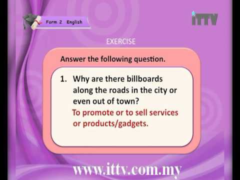 iTTV PMR/PT3 Form 2 English #2 Jobs People Do (Listening, Reading and Vocabulary) -tuition