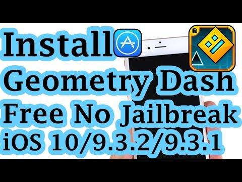 New Install Geometry Dash Free No Jailbreak No Crash On IOS 10/9.3.2/9.3.1 IPhone/iPod/iPad