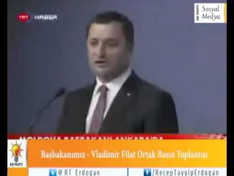 Başbakanımız - Vladimir Filat Ortak Basın Toplantısı