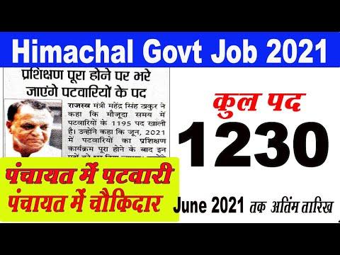 Patwari Bharti News Today | Hp Patwari Recruitment | हिमाचल प्रदेश पटवारी भर्ती 2021 की बड़ी अपडेट