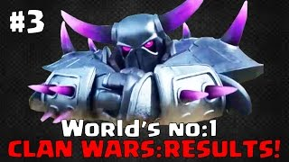 World No1 Clan Wars - The RESULTS!