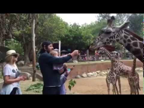 Christina Aguilera and family at L.A. Zoo (2015) [Part 1]