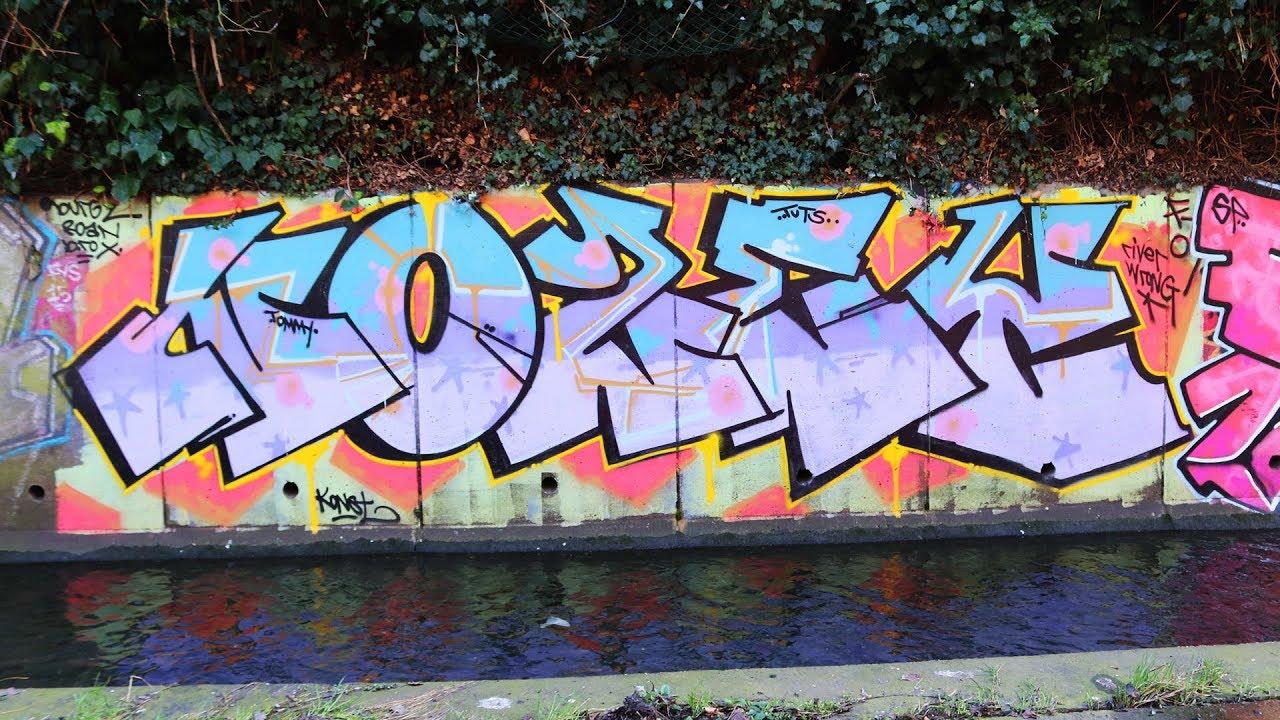 River Rom Walk 23 02 2019 Part 1 London Graffiti Youtube