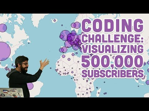 Coding Challenge #109: Visualizing 500,000 Subscribers