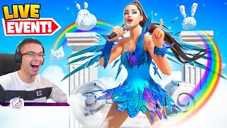 Nick Eh 30 reącts to Ariana Grande Fortnite CONCERT!