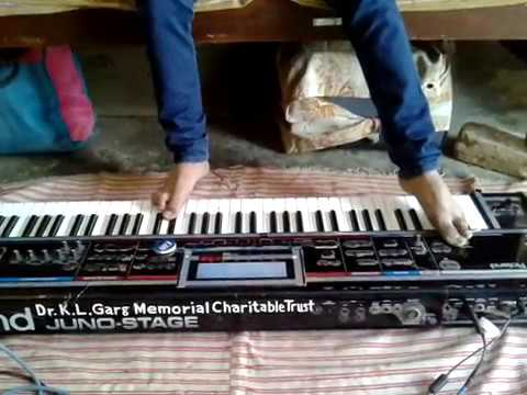 playing karma title song  on keyboard performed by ankit raj