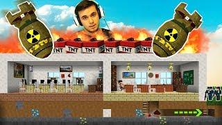 OKULA NÜKLEER BOMBA ATTIK - KAÇIŞ (Minecraft)