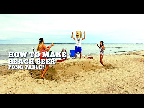 How To Make A Beach Beer Pong Table Alohabeachparty
