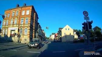 D: Stadt Schwarzenbach a.d. Saale. Landkreis Hof. Rundfahrt durch die Stadt. Juli 2018
