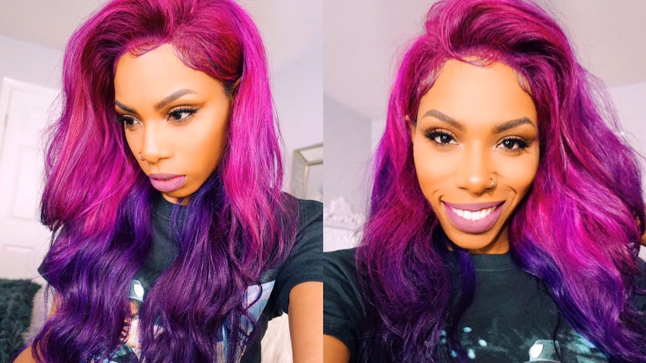 Pink And Purple Hair Styles: STYLE-TORIAL PINK TO PURPLE COLOR MELT UNICORN BAE HAIR
