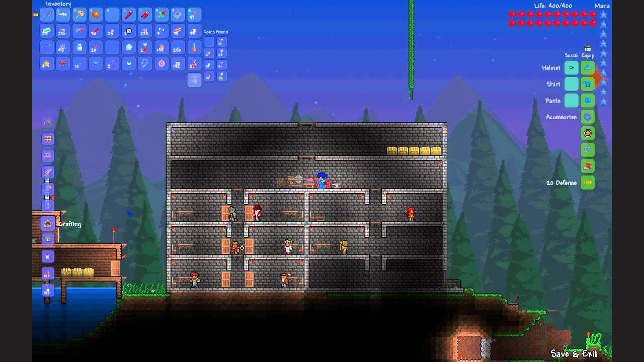 terraria 1 1 secret retractable wall door youtube rh youtube com Terraria Bosses Terraria Wiki Weapons