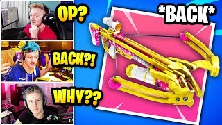 Streamers React To VALENTINE CROSSBOW BACK In Fortnite | Fortnite Daily Funny Moments Ep.316