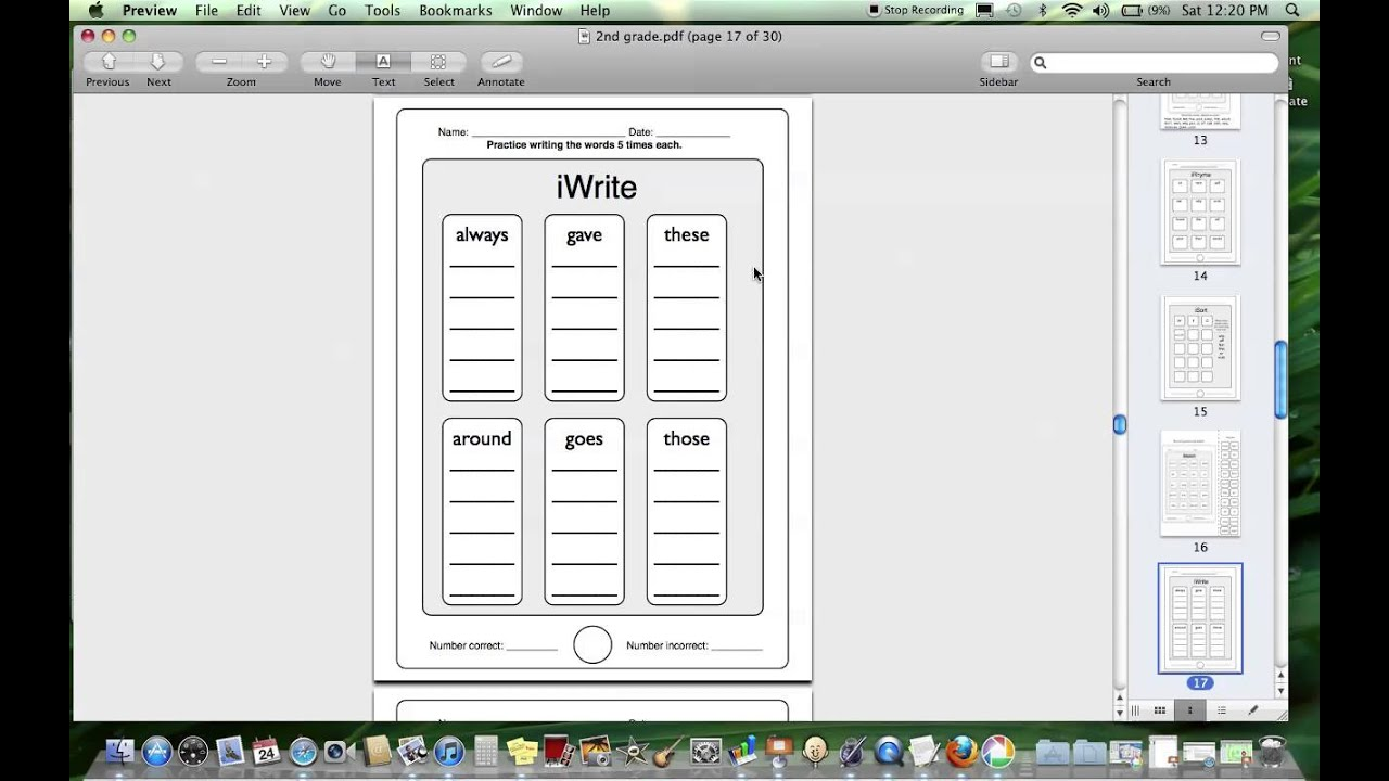 Product Preview for iRead Dolch Second Grade Words Worksheets - YouTube