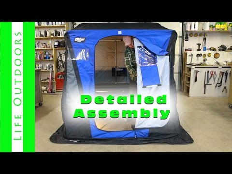 Otter XT Lodge Fish House. How To Assemble And Set Up With Detailed Instructions