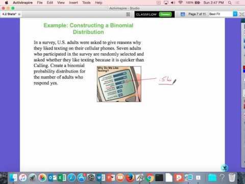 Wednesday Statistics 4 2    Day 2 binomial probability dist