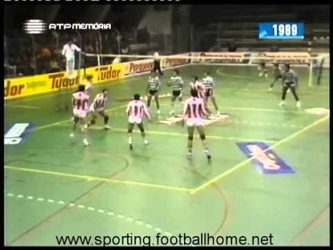 Voleibol :: Sporting - 3 x Leixões - 1 de 1989/1990