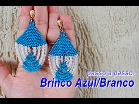 NM Bijoux - Brinco Azul/Branco de...