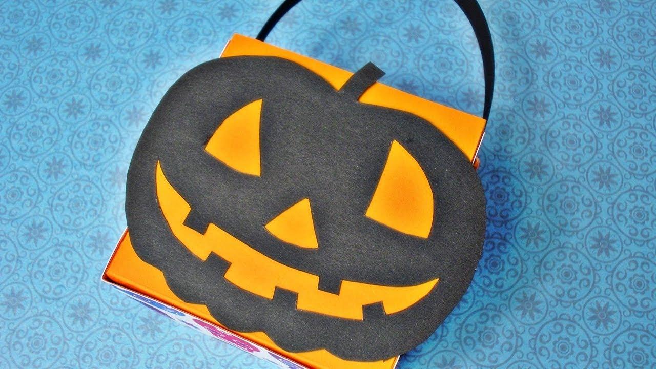 Halloween Bastelideen Youtube.Basteln Halloween Korbchen Selber Machen Halloween Bastelideen Youtube