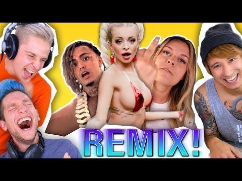 Katja K. feat Rezo 😅  Youtuber REMIXEN mit Rewi und Julien Bam