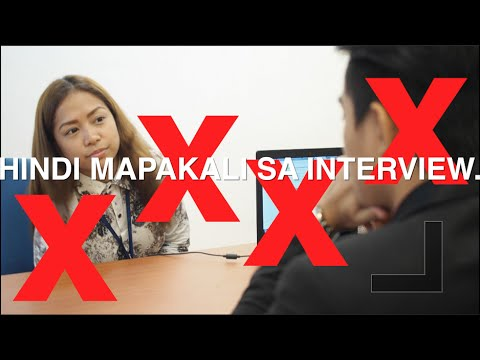 To Do's And Don'ts During The Interview In Tagalog