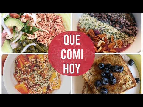 QUE COMI HOY (RECETAS: TINGA DE POLLO, AVENA CON HEMP, NUTRISMOOTHIE BOWL, PAN FRANCES)