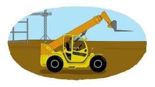 Zeichentrick-Malbuch - Gabelstapler, Containerstapler, Teleskopstapler
