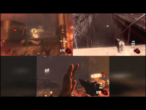 Black Ops II Zombies Mode On Town, 3 Player Split Screen