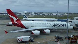 Qantas A380 at Sydney Airport