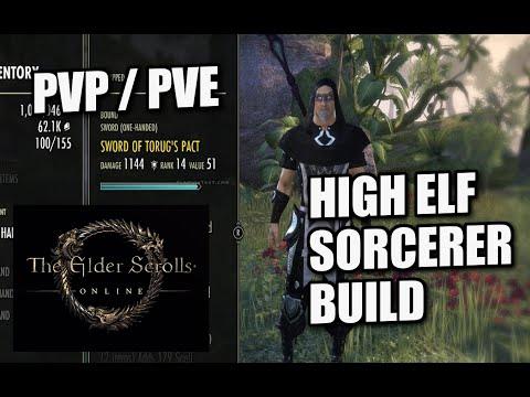 ELDER SCROLLS ONLINE - PS4 - HIGH ELF SORCERER BUILD - PVP / PVE - XBOX / PS3