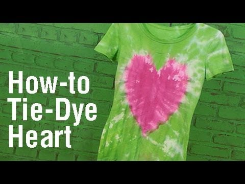 How To Create a Heart Design Tie Dye T Shirt    YouTube