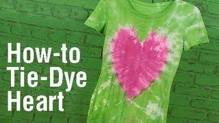 How-To Create a Heart Design Tie Dye T-Shirt!