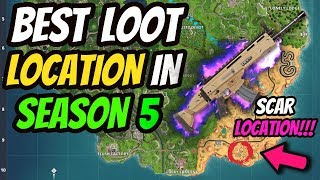 LEGENDARY SCAR LOCATION? HOW TO GET THE BEST LOOT EVERY TIME in FORTNITE BATTLE ROYALE SEASON 5!