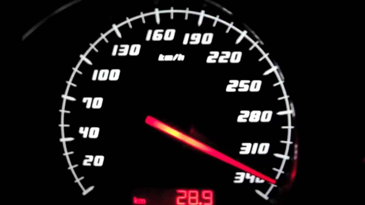Lamborghini Gallardo LP560-4 acceleration 330 Km/h almost flat out ...