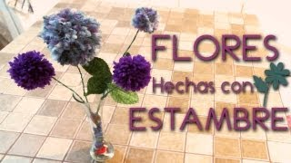 flores hechas con estambre /  how to make yarn flowers ♥ Thumbnail
