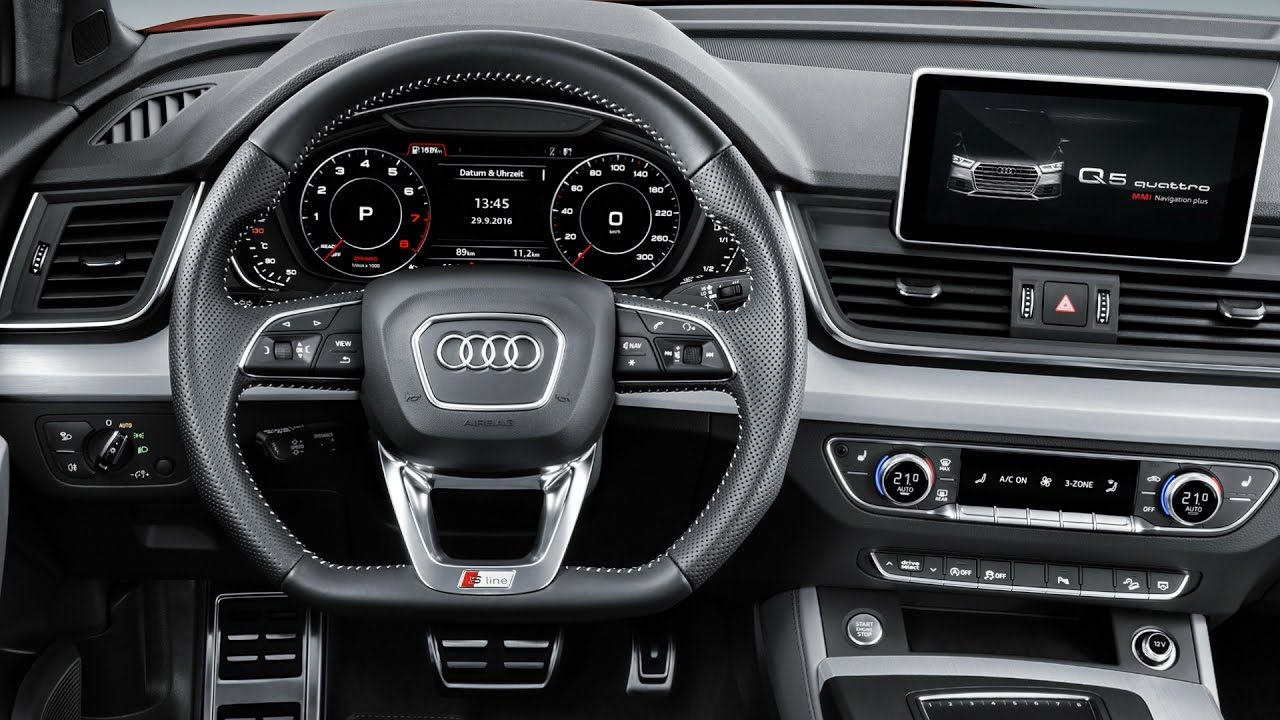2017 audi q5 quattro s line interior youtube. Black Bedroom Furniture Sets. Home Design Ideas