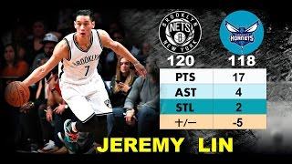 Jeremy Lin 林書豪─ 2016.12.26 Brooklyn Nets vs Hornets