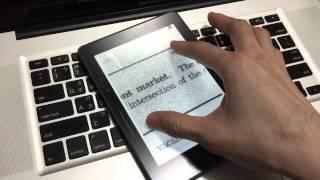Kindle Voyage 實際操作示範影片