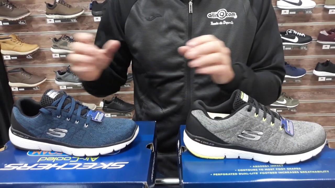 Zapatillas Skechers Flex Advantage 3.0 52957 GYBK BLBK YouTube