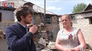 Délégation française à Zaïtsevo après un bombardement des FAU - 9 mai 2018