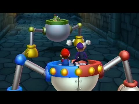 Mario Party 9 - All Bowser Jr Minigames (2 Players)