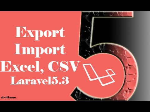 export & Import file excel in laravel