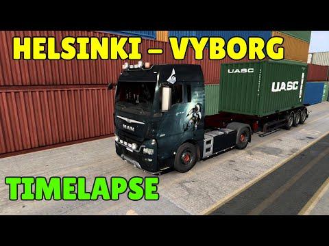 Euro Truck Simulator 2 1.40 Promods Map 2.52 Helsinki To Vyborg Timelapse Gameplay